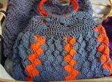 Blue*Orange Crosshatch Purse