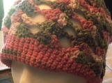 Crochet Beanie in Pink Camo Colors (include a free gift)