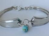 Deerfield 1913 Spoon Bracelet with Ocean White Jade