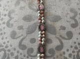 Handcrafted  Double Strand  Pink Cats Bracelet