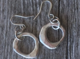 Molten Organic Earrings. 1.5""