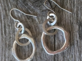 Molten Organic Earrings. 1.75""
