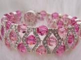 18KWGP Rhinestone Swarovski Crystal Bracelet 7 Colour choices