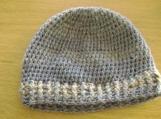 Blue / Grey / Beige Mottled Winter Hat