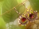 Chloe Earrings in Sterling with Multi Color Gemstones