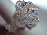 Clear WonderDome Swarovski Crystal Ring