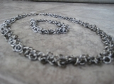 Stainless Steel Dangle Chainmaille Necklace & Bracelet Set