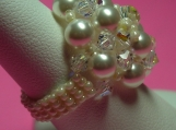 White Swarovski Crystal & Pearl WonderDome Ring