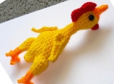 PATTERN - Rubber Chicken amigurumi