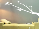 "ShaNickers Wall Decal/ Sticker-""Birdie Perched""-FREE SHIPPING TO US!!"