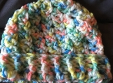 Crochet Ribbed Baby Hat (3-6 months)-includes a free gift