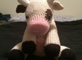 Crocheted Amigurumi Cow