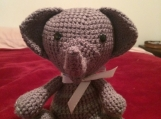 Crocheted Amigurumi Elephant
