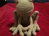 Crocheted Amigurumi Frog