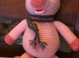 Crocheted Amigurumi Pink Piggy