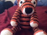 Crocheted Orange & Black Striped Tiger