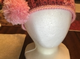 Crochet Star Stitch Headwrap w/Pom-Poms (includes a free gift)