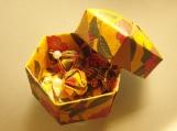 Elegant Yellow Origami Earrings and Box