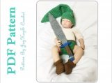 Legend of Zelda Crochet Pattern Link Baby Outfit Crochet Link Costume Diaper Set