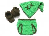 Link Diaper Set Costume Crochet Legend of Zelda Newborn Outfit