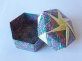 Origami Box - Green / Yellow