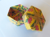 Origami  Box - Yellow / Red