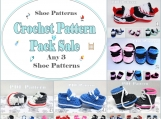 Pattern Pack Sale Crochet Bootie Patterns - Any 3 Shoe Patterns PDF Files