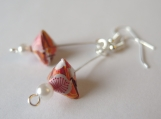 Pyramid Shape Origami Earrings