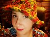 Tiedye crochet brim hat