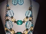 A aqua blue  jewelry set