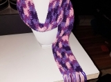 A purple and pink tiedye scarf