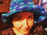Aqua blue tiedye hat