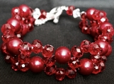 Bracelet and Earrings A4 Red Venom