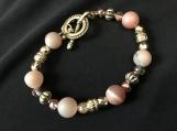 Bracelet and Earrings A41 Soft Beige