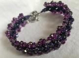 Bracelet and Earrings A68 Grape lollipop