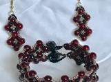 Bracelet and Earrings A9 Sweet Wine