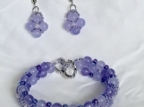 Bracelet and Earrings Set A7 Violette