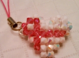 Breast Cancer Awareness Puffy Heart Charm