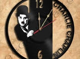 Charlie Chaplin Vinyl Record Clock