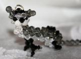 Crystal Ferret Charm Free Shipping