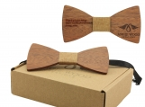 Engraved Adult Size Red Sandalwood Butterfly Bowtie -Cork(B0213)