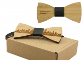 Engraved Adult-Sized Bow Tie - Chicago Cityscape Design (B0902)