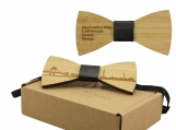 Engraved Adult-Sized Bow Tie - Tokyo Cityscape Design (B0907)