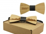 Engraved Adult-Sized Bow Tie-Vancouver Cityscape Design (B0908)