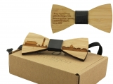 Engraved Adult-Sized Bow Tie - Washington DC Cityscape (B0901)
