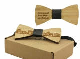 Engraved Adult-Sized Bow Tie with Rome Cityscape Design (B0906)