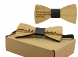 Engraved Adult-Sized BowTie-Athens Cityscape Design (B0910