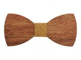 Engraved Adult-Sized Large Round Wooden Bow Tie (B0049)