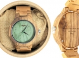 Engraved Bamboo Men's Watch With Bamboo Bracelet (W026)
