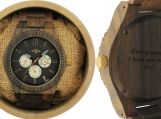 Engraved Dark Sandalwood Men's Watch (W148)